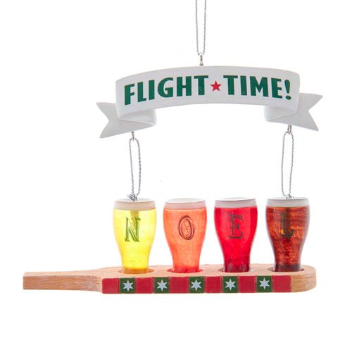 Flight Time Beer 4 3/4-Inch Glass Ornament