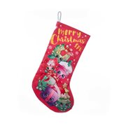 Shopkins Group Christmas Satin Print Stocking