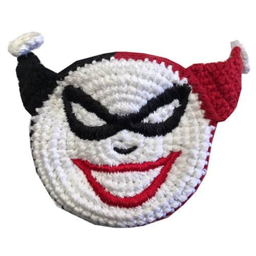Harley Quinn Head Crocheted Footbag