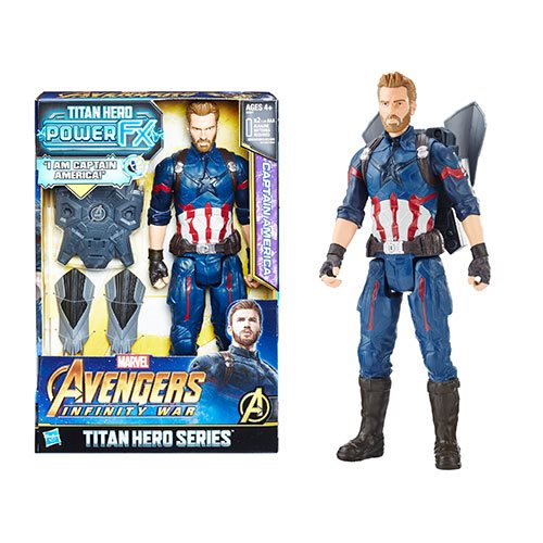 Avengers: Infinity War Titan Hero Power FX Captain America 12-Inch Action Figure