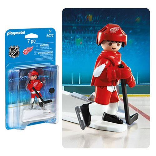 Playmobil 5077 NHL Detroit Red Wings Player Action Figure