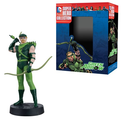DC Superhero Green Arrow Best Of Figure with Collector Magazine