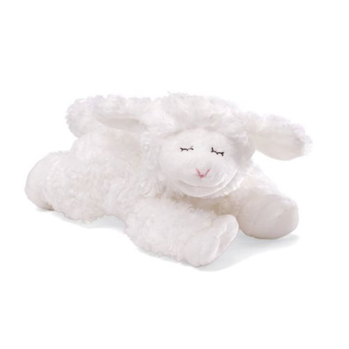 Winky Lamb Rattle White 7-Inch Plush