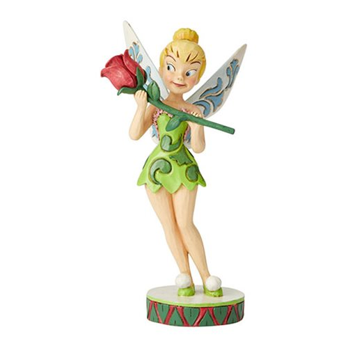 Disney Traditions Tinker Bell with Rose Bell in Bloom by Jim Shore Statue