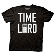 Doctor Who Time Lord with TARDIS Black T-Shirt
