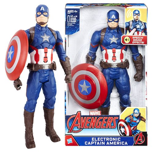 Avengers 12-inch Electronic Captain America Action Figure
