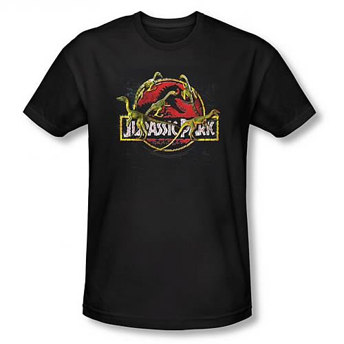 Jurassic Park Something Has Survived Black T-Shirt