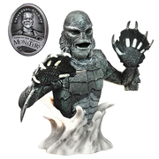 Universal Monsters Creature from the Black Lagoon Black-and-White Bust Bank