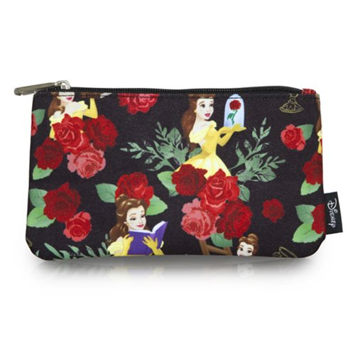 Beauty and the Beast Belle Roses Print Travel Cosmetic Bag