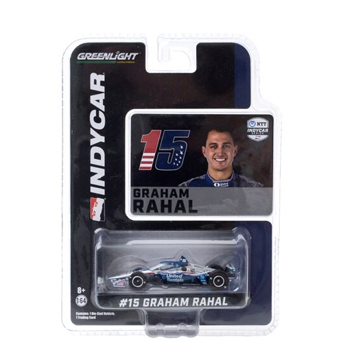 2020 NTT IndyCar Series #15 Graham Rahal Letterman Lanigan Racing 1:64 Scale Die-Cast Vehicle with Trading Card