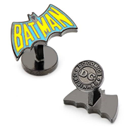 Batman Vintage Blue and Yellow Logo Cufflinks