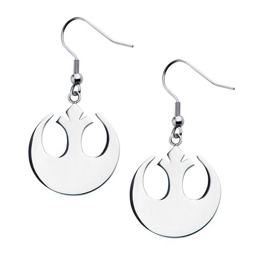 Star Wars Rebel Alliance Stainless Steel Dangle Earrings