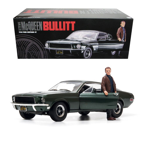 Bullitt 1968 Ford Mustang GT Fastback 1:18 Scale Die-Cast Metal Vehicle with Steve McQueen Figure