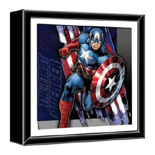 Captain America The First Avenger Wood Shadow Box