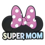 Minnie Mouse Super Mom Pink Soft Touch Magnet