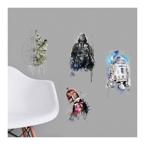 Star Wars Iconic Character Watercolor Peel and Stick Giant Wall Decals