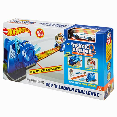 Hot Wheels Track Builder System Rev 'N Launch Challenge Track