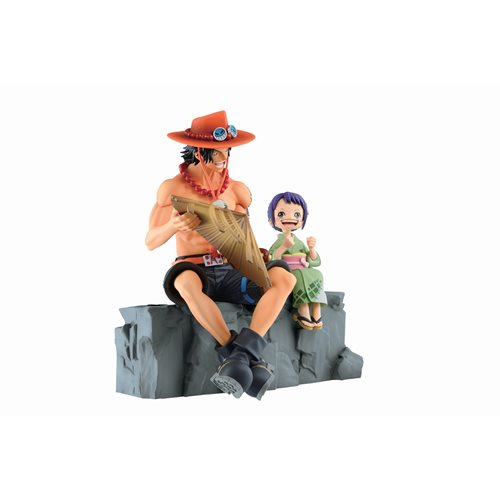 One Piece Emorial Vignette Ace and Otama Ichiban Statue