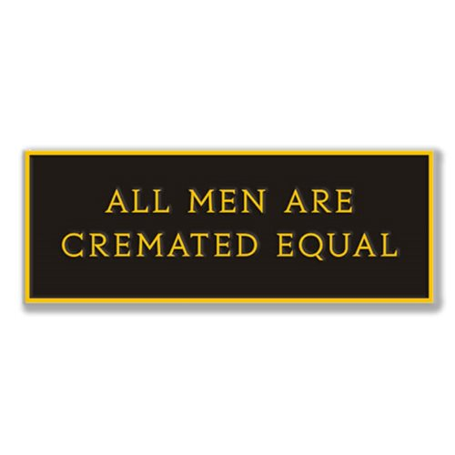 Ars Moriendi Cremated Equal Enamel Pin