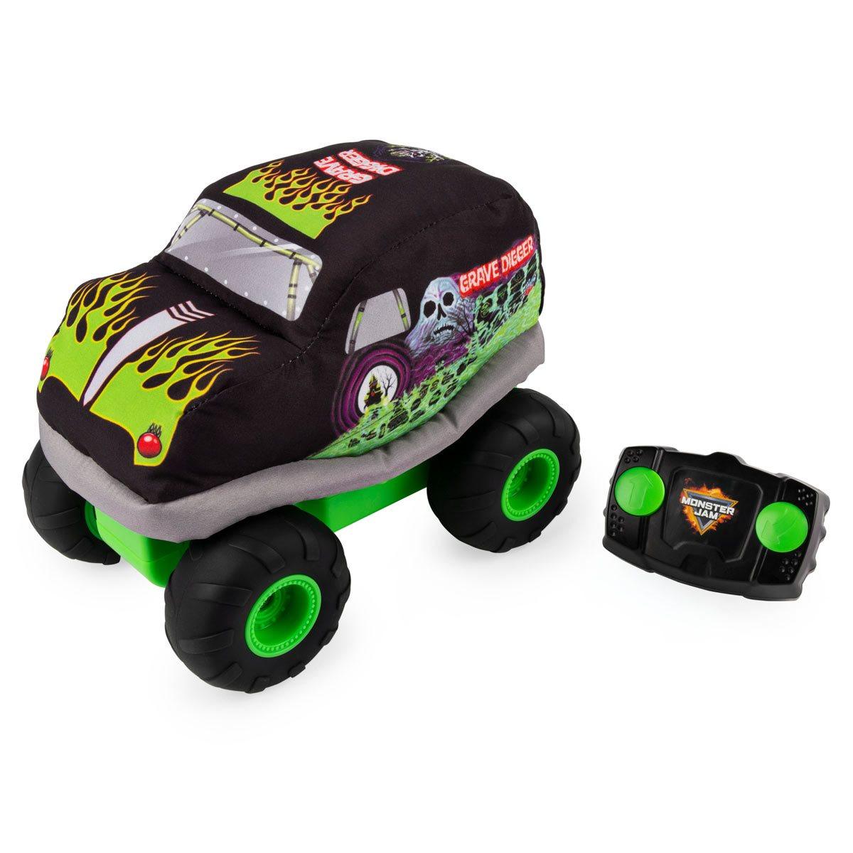 Monster Jam Grave Digger Plush Remote Control Soft Body Monster Truck