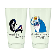 Adventure Time Marceline and Ice King 16 oz. Pint Glass 2-Pack
