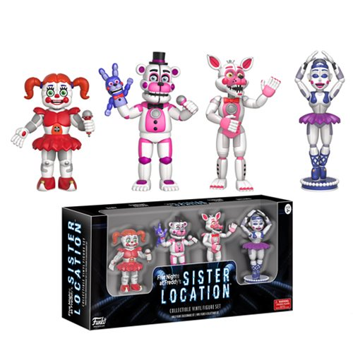 Five Nights at Freddy's Sister Location 2-Inch Vinyl Figure Set