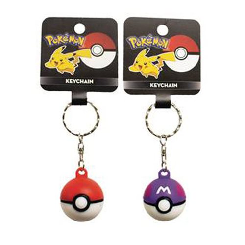 Nintendo Pokemon Pokeball Key Chain Random 6-Pack