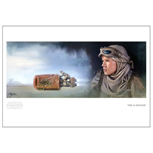 Star Wars: The Force Awakens The Scavenger by Brian Rood Paper Giclee Art Print