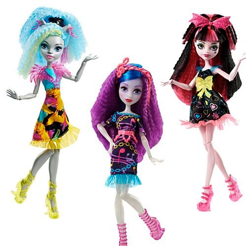 Monster High Electrified Hair-Raising Ghouls Doll Case