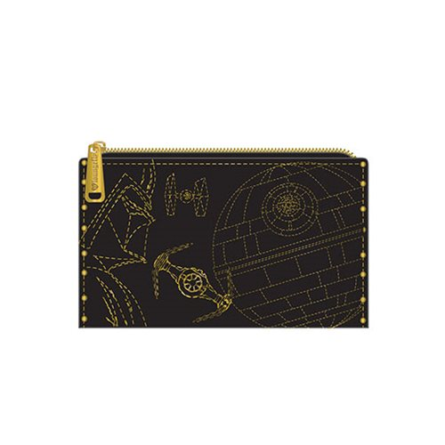 Star Wars Darth Vader Gold Stud Bifold Wallet