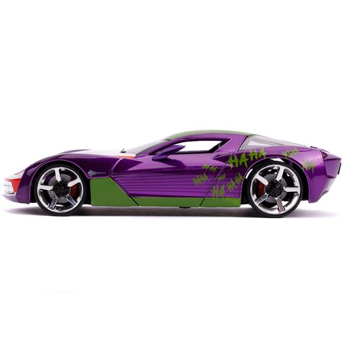 Batman Joker 2009 Corvette Stingray 1:24 Scale Die-Cast Metal Vehicle