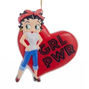 Betty Boop Girl Power Resin Ornament