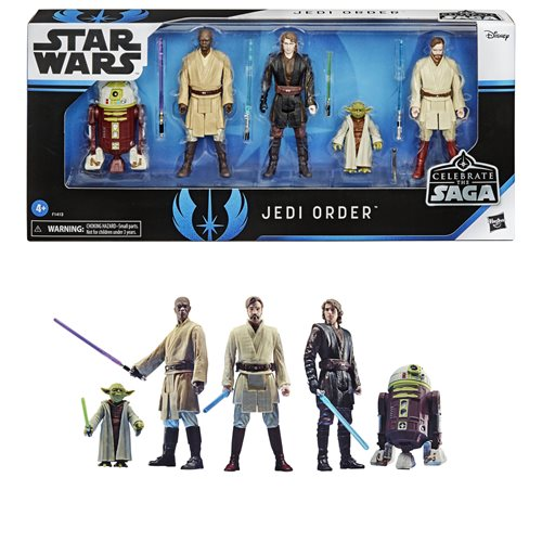 Star Wars Celebrate the Saga Jedi Order 3 3/4-Inch Action Figure Set