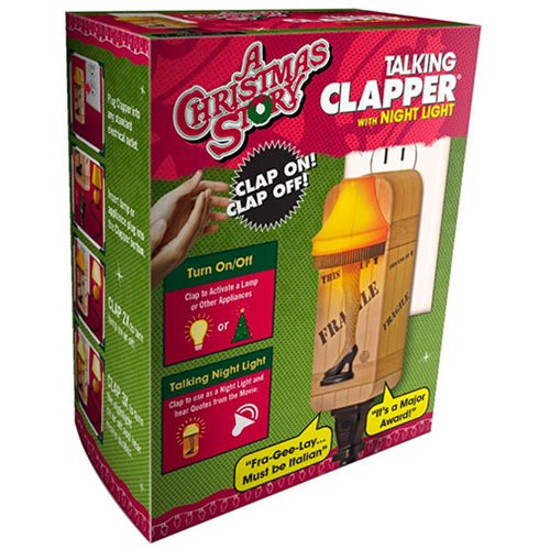A Christmas Story Talking Clapper and Nightlight