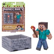 Minecraft Series 3 Steve with Minecart Figure Pack