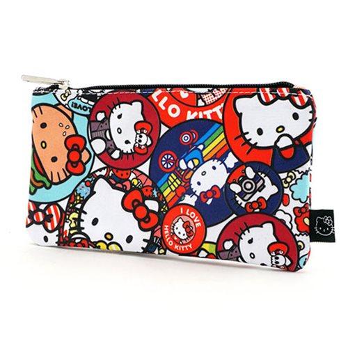 Hello Kitty Button Print Travel Cosmetic Bag - Entertainment Earth 7e6addd906932