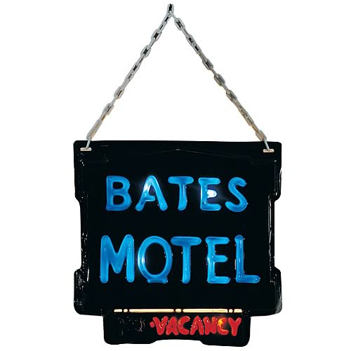 Psycho Bates Motel Lightup Sign