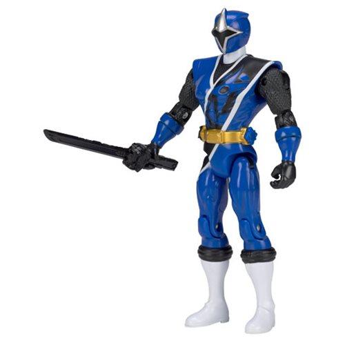 """Power Rangers Ninja Acier 5/"""" BLUE RANGER Action Hero"""