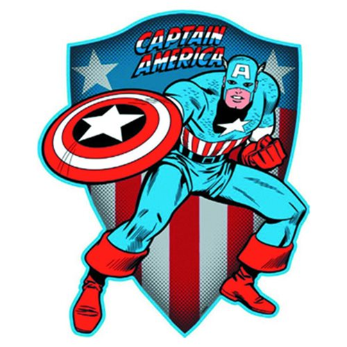 Captain America Die Cut Embossed Tin Sign