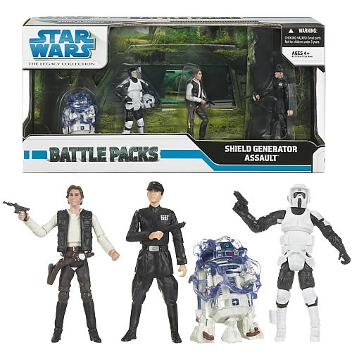 Shield Generator Assault 2010 STAR WARS Legacy Collection Battle Pack Packs MIB