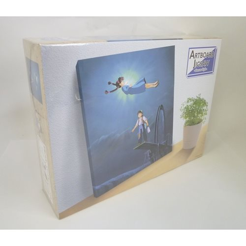 Castle in the Sky The Girl Who Fell From The Sky Artboard Canvas Style 366-Piece Jigsaw Puzzle
