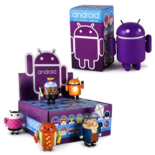 Google Android Phone Mascot Series 6 Mini-Fig. Display Case