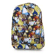 Beauty and the Beast Belle Characters Print Backpack