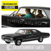 Supernatural 1967 Chevrolet Impala Sport Sedan 1:18 Scale Die-Cast Metal Vehicle with Sam and Dean Figures EE Exclusive