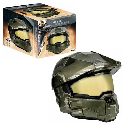 Halo Master Chief Motorcycle Helmet Replica, Not Mint