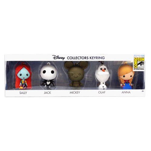 Disney 3D Foam Key Chain Collector 5-Pack - San Diego Comic-Con 2015 Exclusive