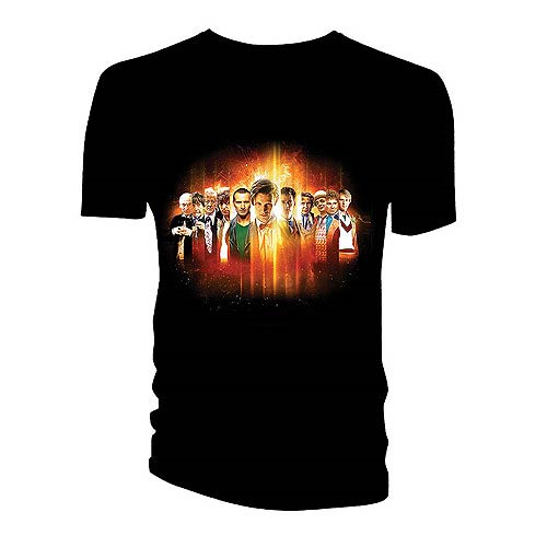 Doctor Who 11 Doctors Regeneration Montage T-Shirt