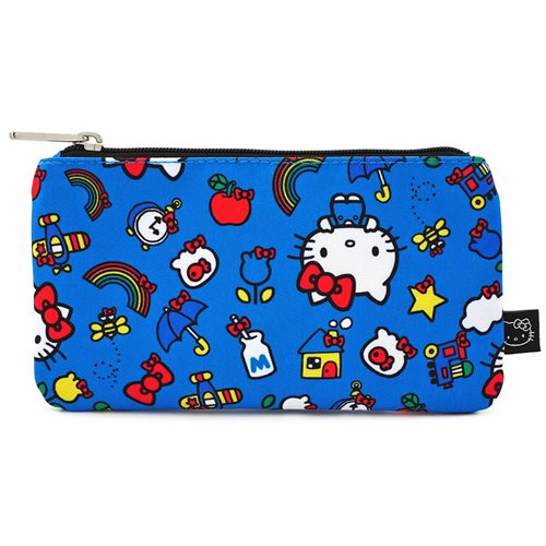 Hello Kitty Icons Print Nylon Pouch