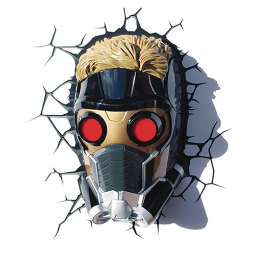 Guardians of the Galaxy Star-Lord Mask 3D Light