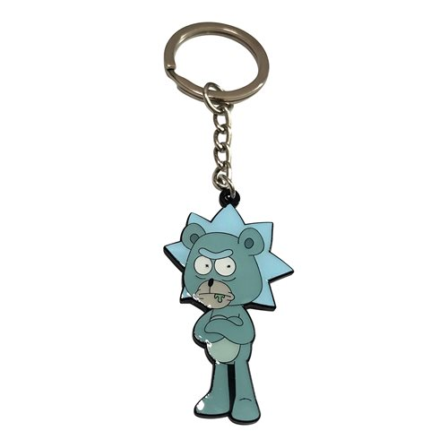 Rick and Morty Teddy Rick Enamel Key Chain